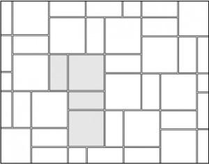 Комбинированная укладка (кафель двух видов)