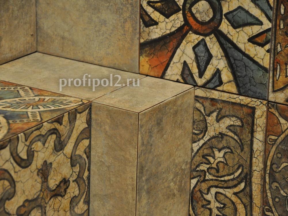 заусовка плитка, сведение трех плоскостей