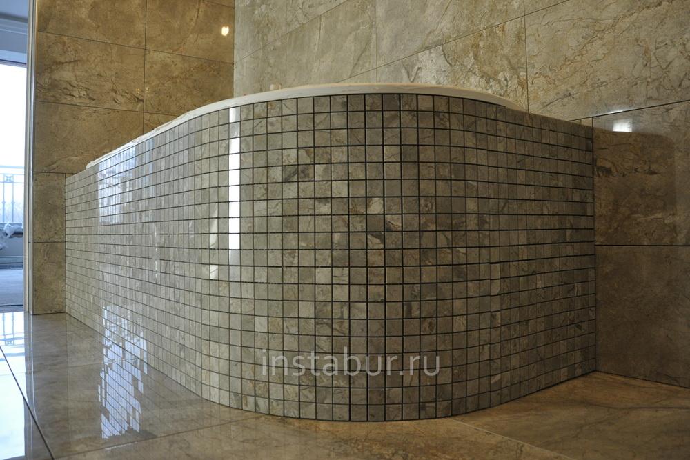 круглая ванна мозаика