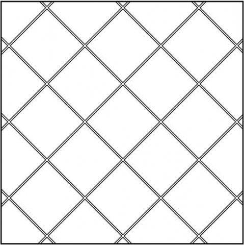 Диагональная укладка (простая)
