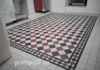 метлахская плитка на кухне