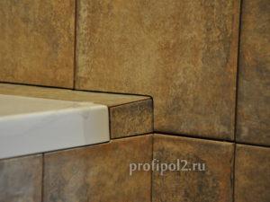 примыкание плитки к ванне